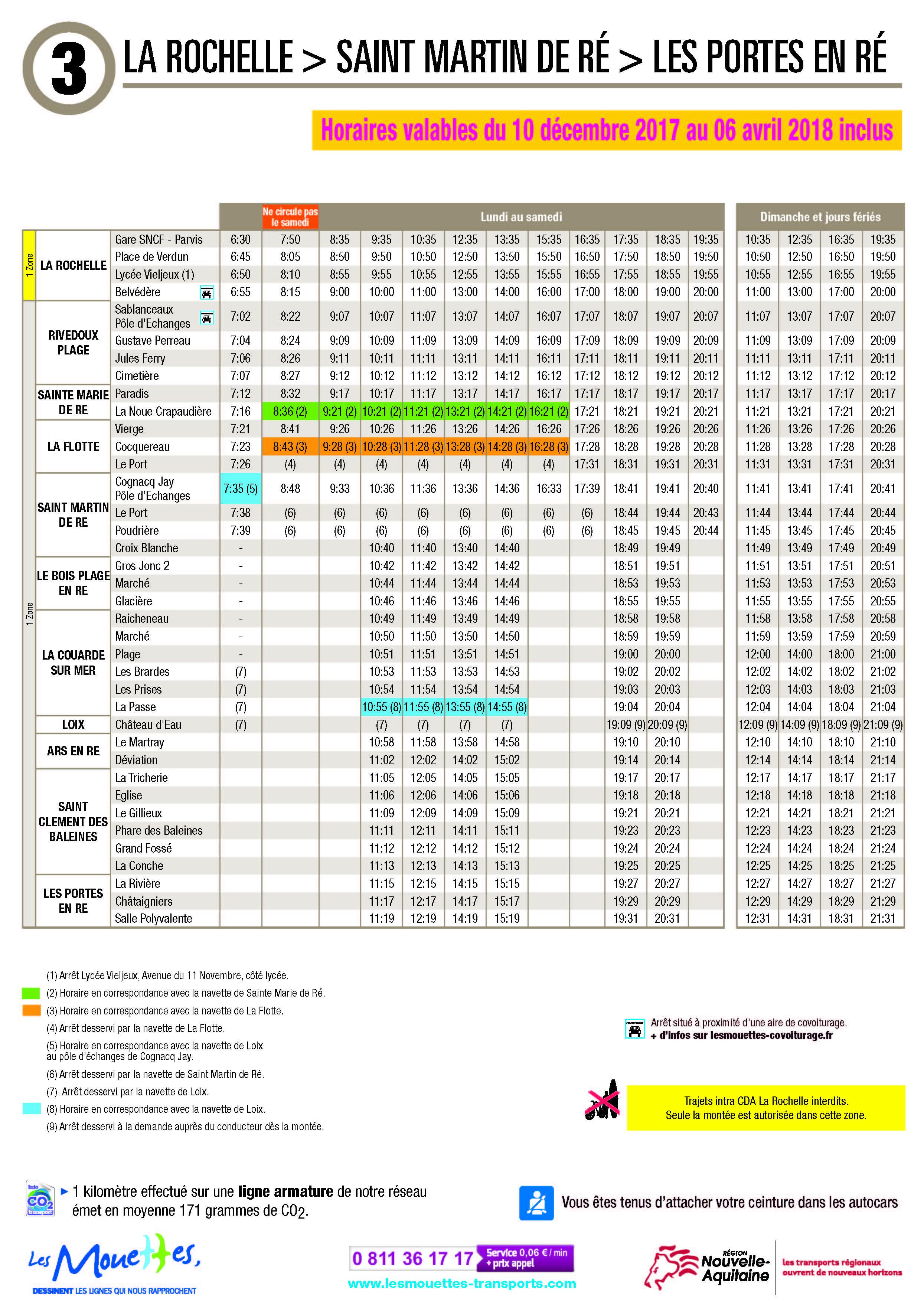 Constructeur Ile De Ré horaires des bus ile de ré - annuaire de l'île de ré - le