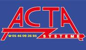 Logo Acta Système - Entreprise vente alarme Ile de Ré